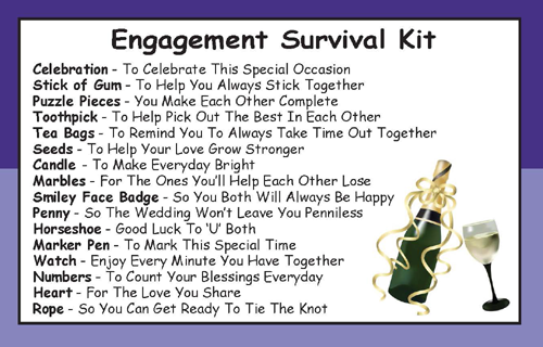 Engagement Survival Kit In A Can